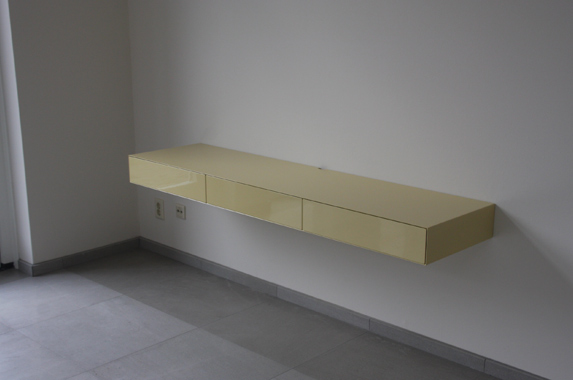 zwevend bureau thuis kantoor