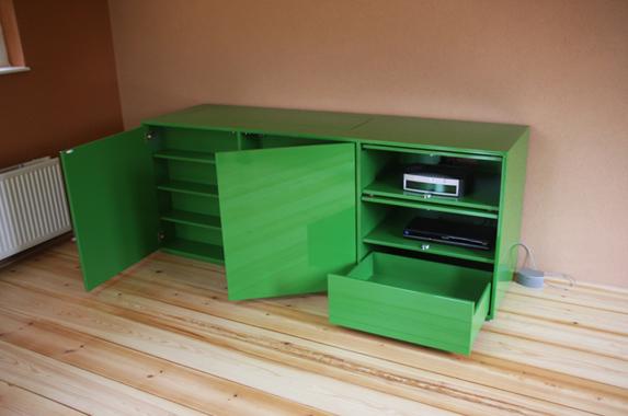 tv kast lift op maat groen