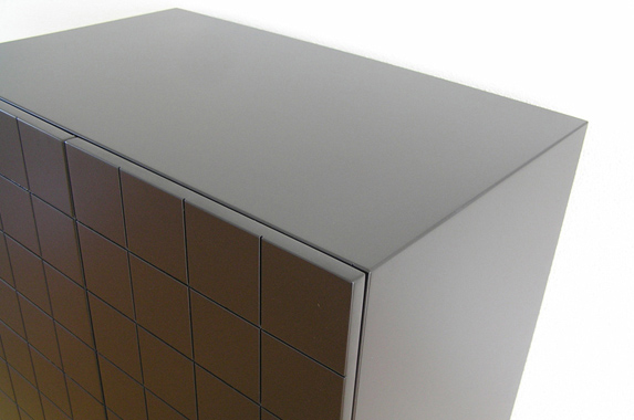 Dressoir zwart RAL 9005 greeploos zijdeglans