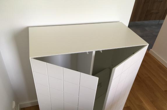 Staand kastje wit hoogglans design