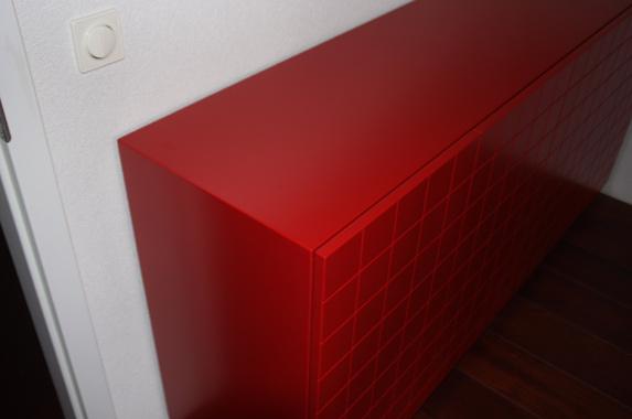 Dressoir rood zijdeglans