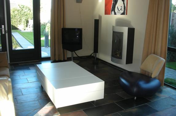 salontafel design wit zijdeglans RAL 9010