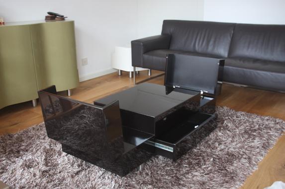 salontafel design zwart hoogglans