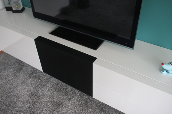 Media meubel zwevend speakerdoek