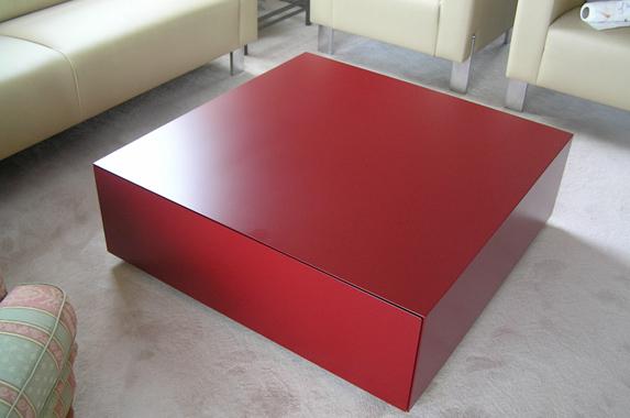 salontafel verstek greeploos sokkel rood