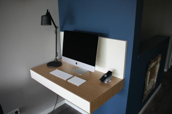 zwevend bureau eiken apple huiskamer