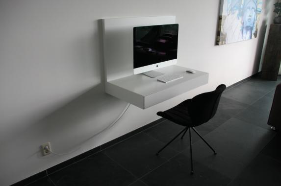 zwevend bureau apple huiskamer
