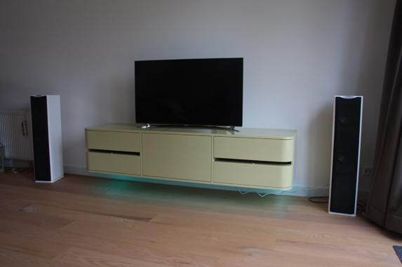 tv audio meubel design zwevend