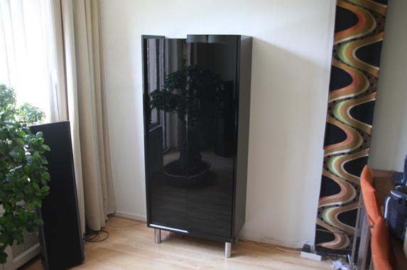 Zwarte Hoogglans Ladenkast.Staande Kasten Furniture D