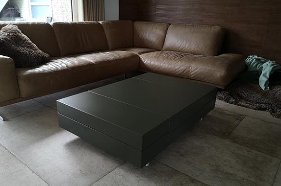 salontafel design groen zijdeglans