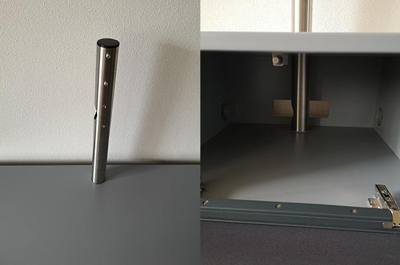 TV kast met RVS paal beugel speakerdoek